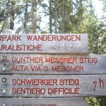 Alta Via Gunther Messner Signs Approaching