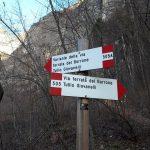 Giovanelli Ravine Ferrata signs