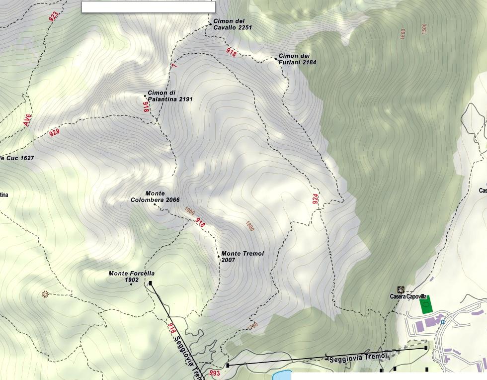 Cartina Alta Via dei Rondoi