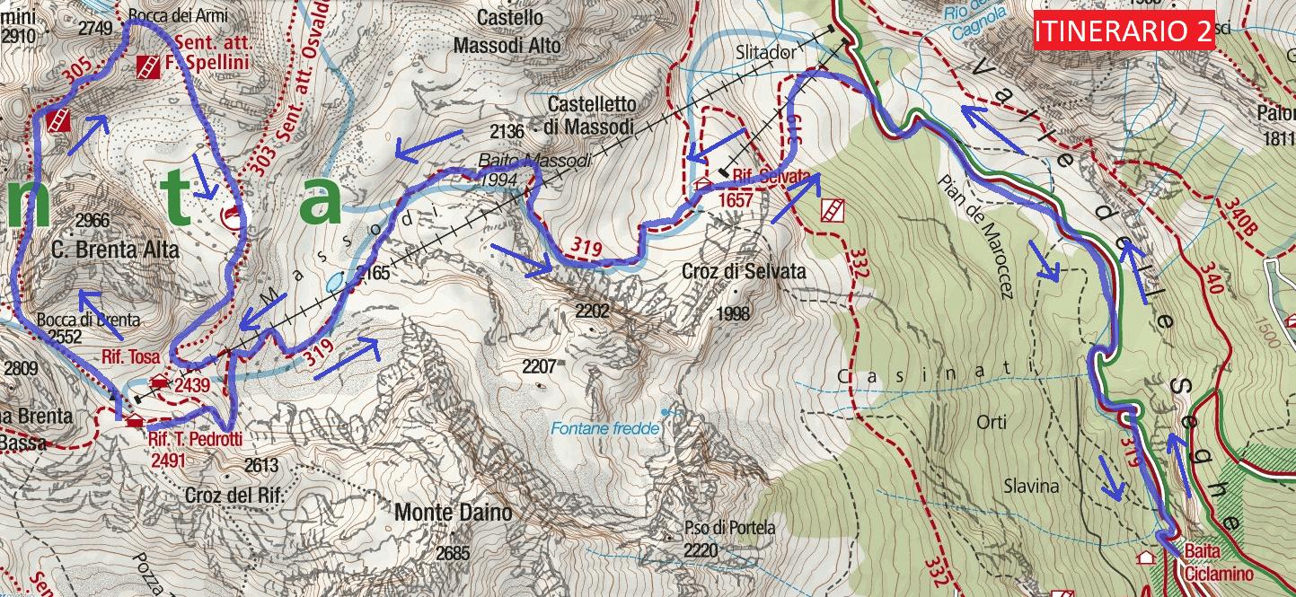 Cartina Bocchette Centrali 2