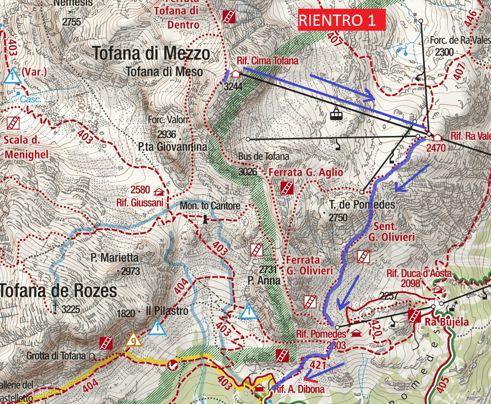 Garland Ferrata Map Return 1