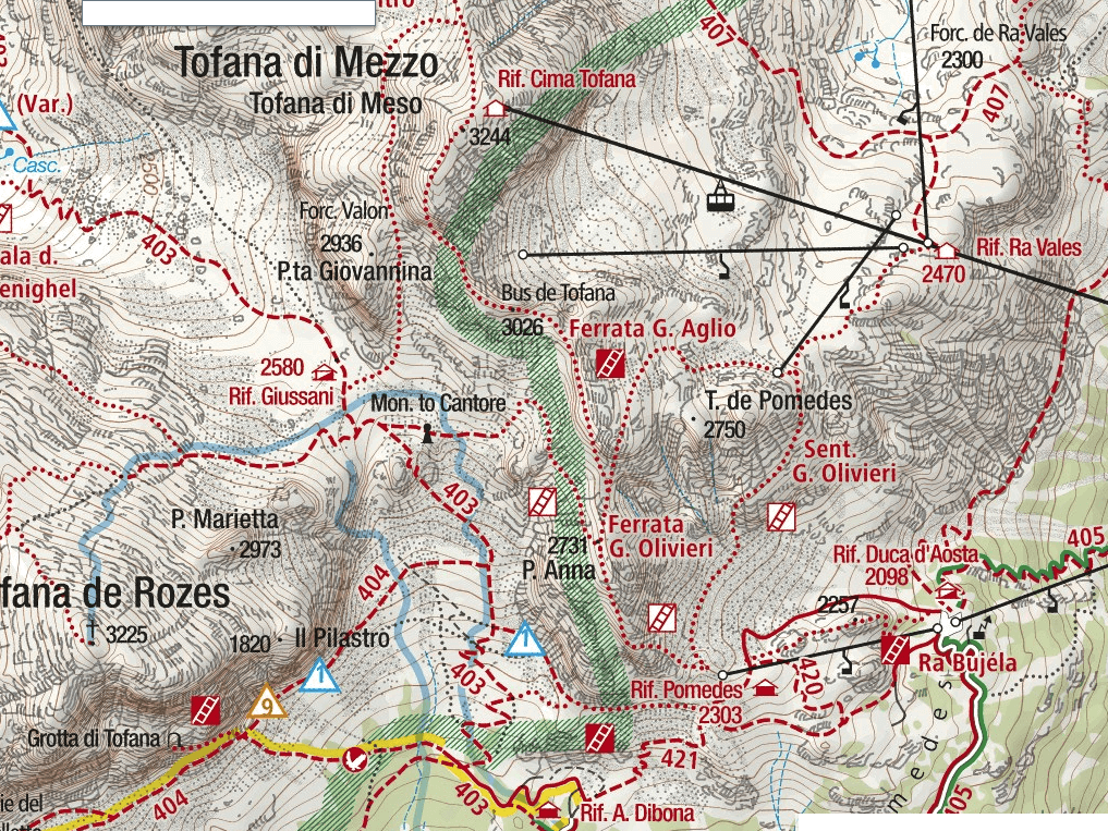 Aglio Ferrata Map