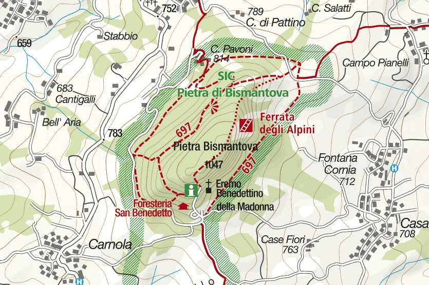 Cartina Ferrata Alpini Bismantova