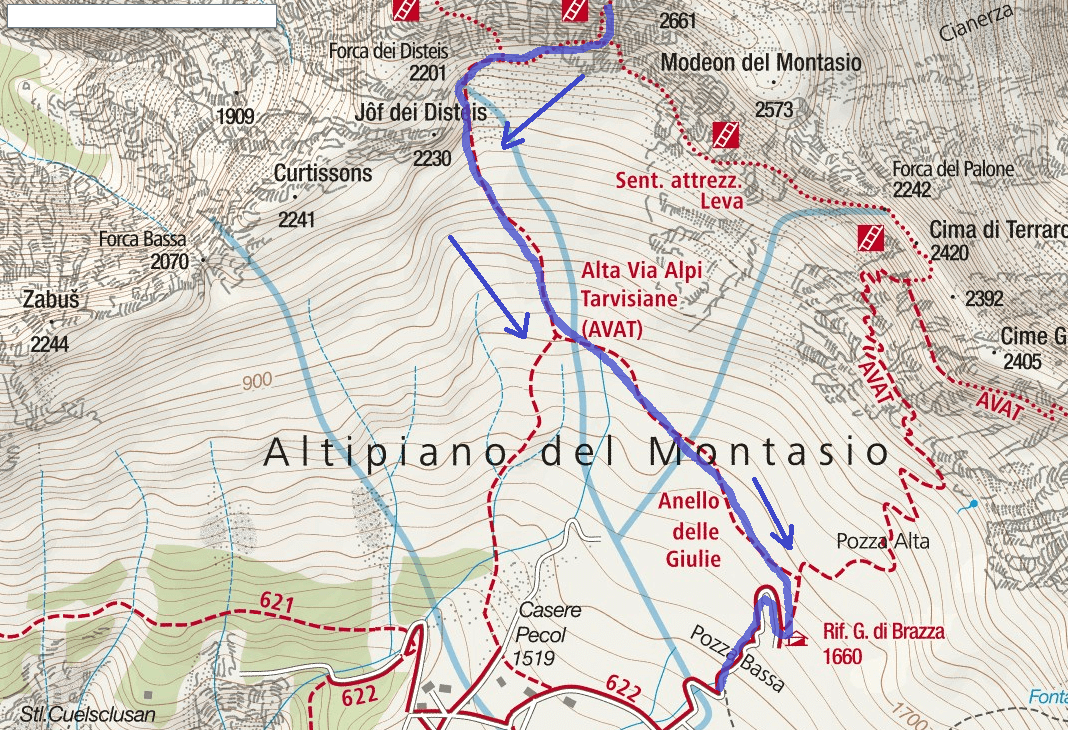 Amalia Ferrata Map Itinerary Detail 3