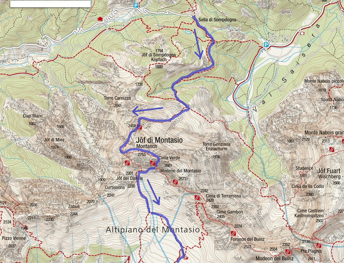 Amalia Ferrata Map Itinerary