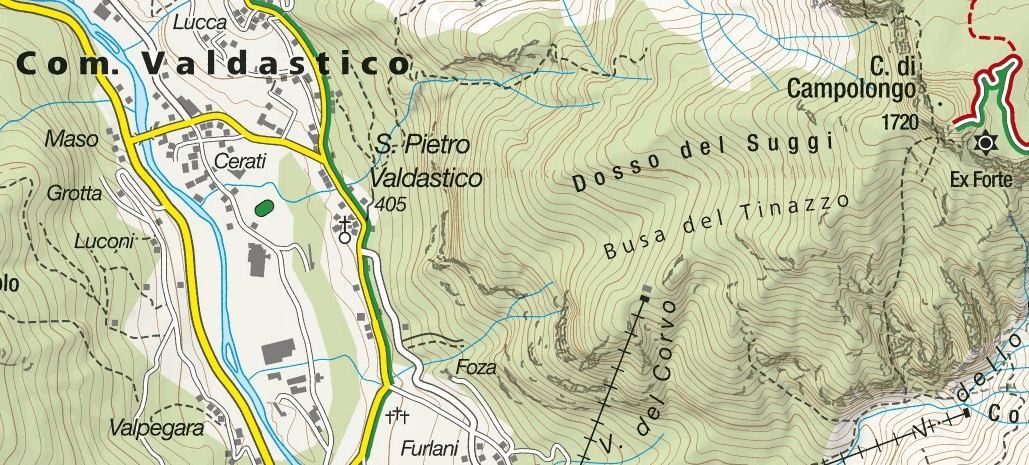 Ferrata Anguane rings map