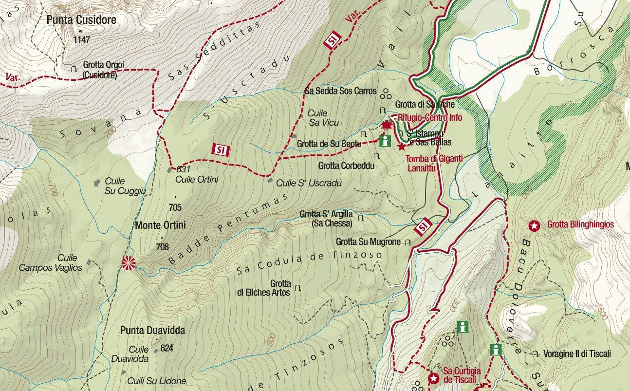 Badde Pentumas Ferrata Map