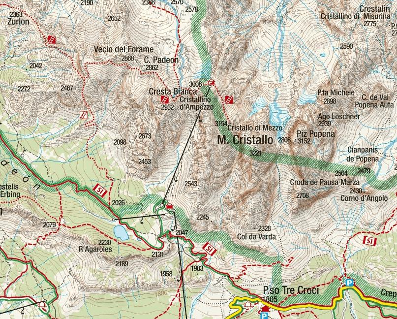 White Crystal Ferrata Map
