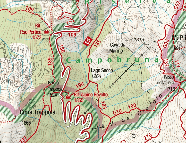 Ferrata Biasin map