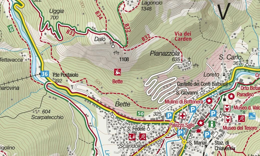 Ferrata Biasini map