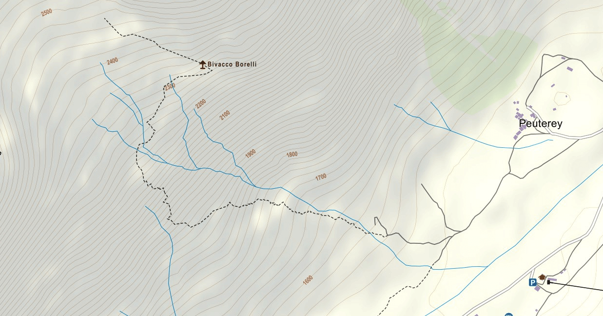 Borelli Shelter Ferrata Map