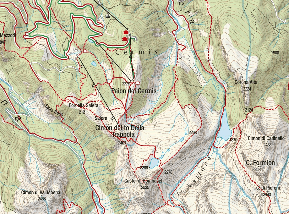 Bombasel Ferrata Map