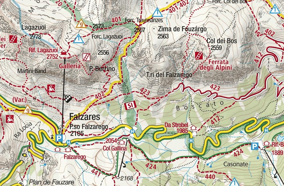 Cartina Ferrata Brigata Alpina Col dei Bos 2