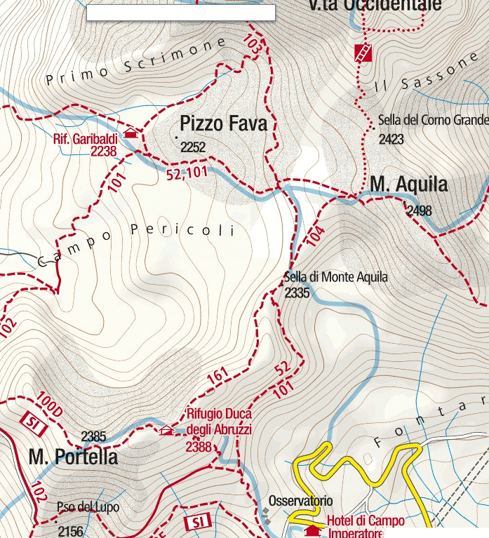 Brizio Ferrata Map Detail 1