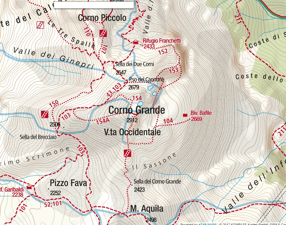 Brizio Ferrata Map Detail 2