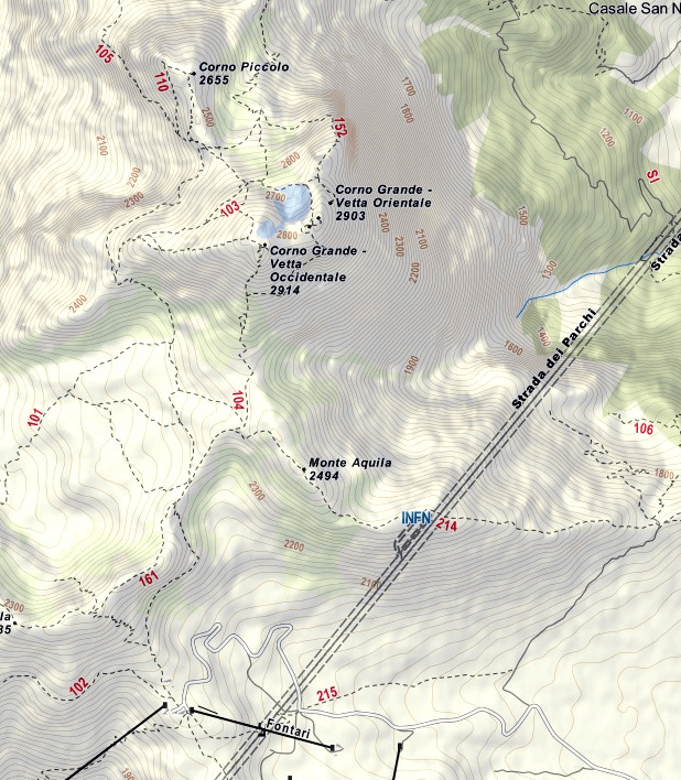 Brizio Ferrata Map