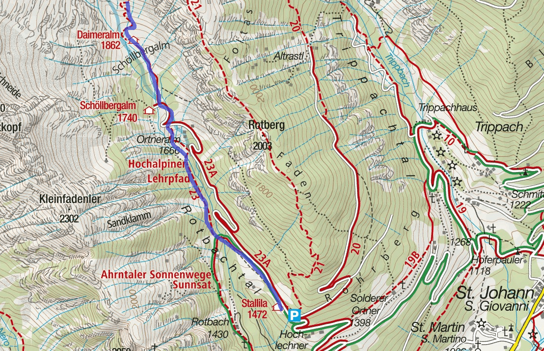 Ferrata Map Ghetto Glacier Sasso Black Detail 1