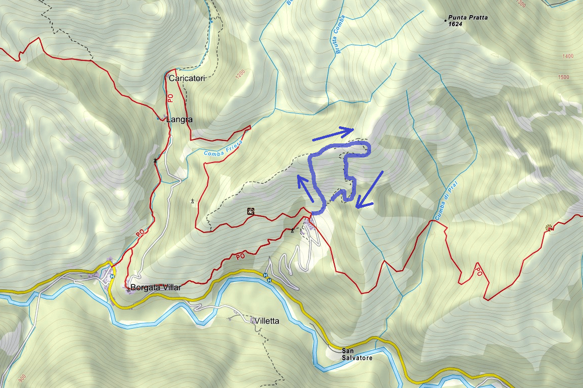 Camoglieres Ferrata Map Itinerary