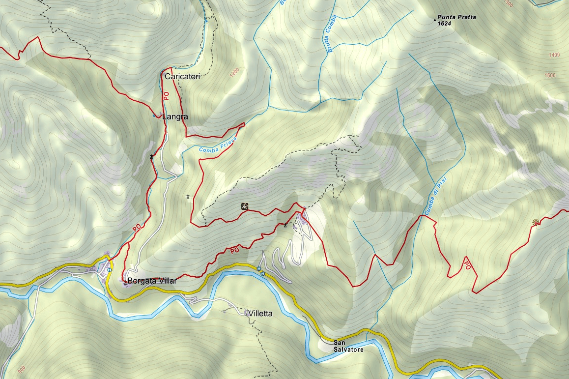 Camoglieres Ferrata Map
