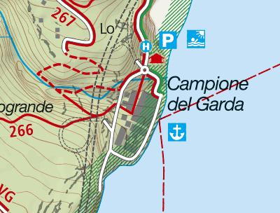 Cartina Ferrata Campione del Garda