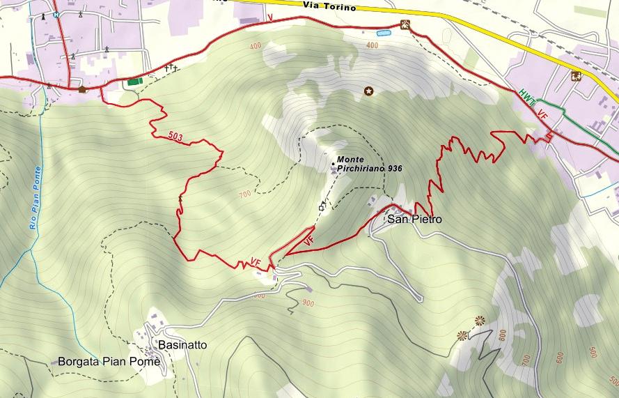Carlo Giorda Sacra San Michele Ferrata Map