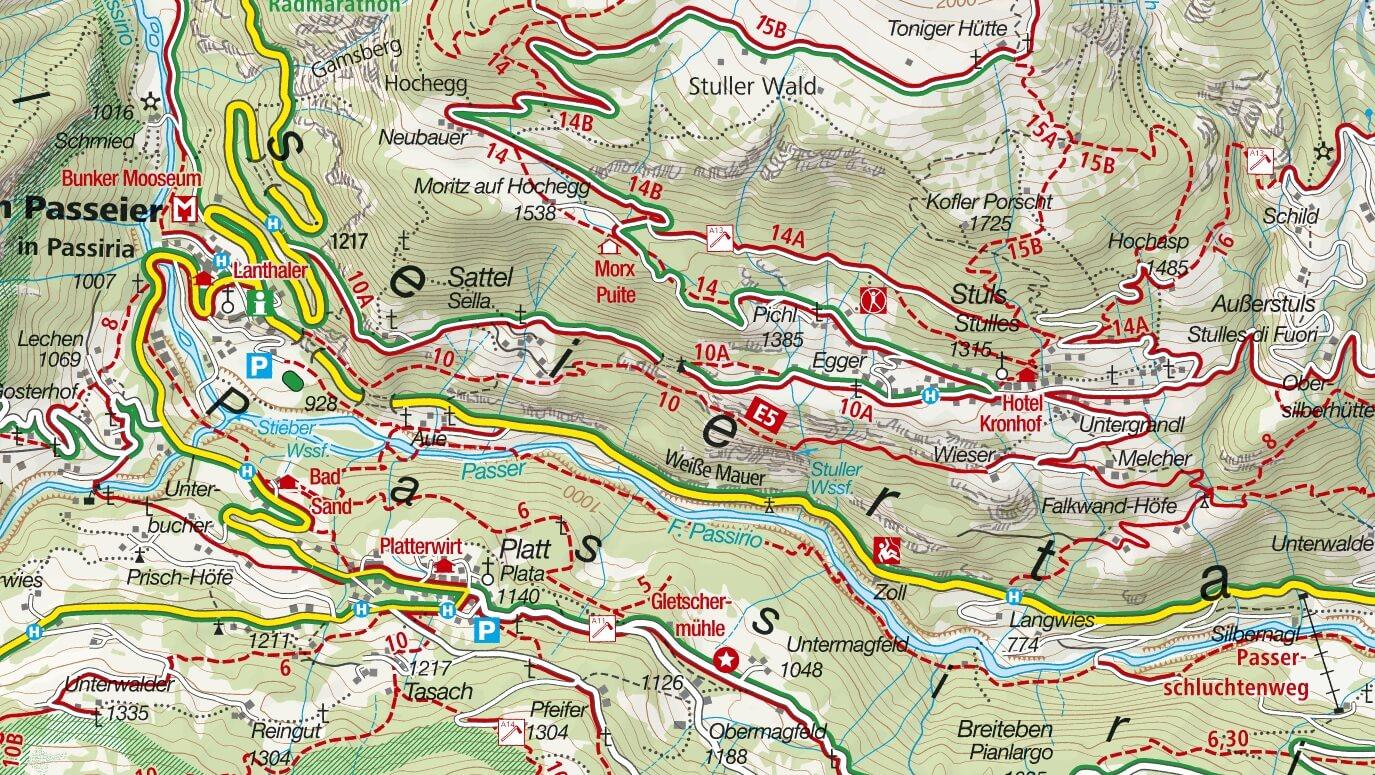 Cartina Ferrata Cascate Stuller