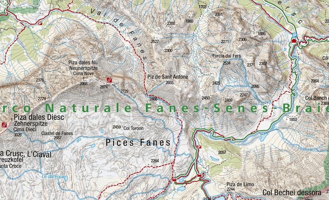 Ferrata Cima Nove map