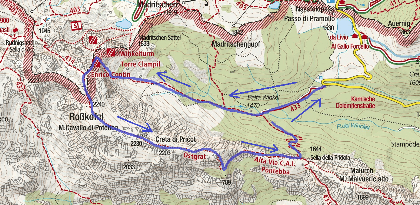 Ferr Route Contin Map