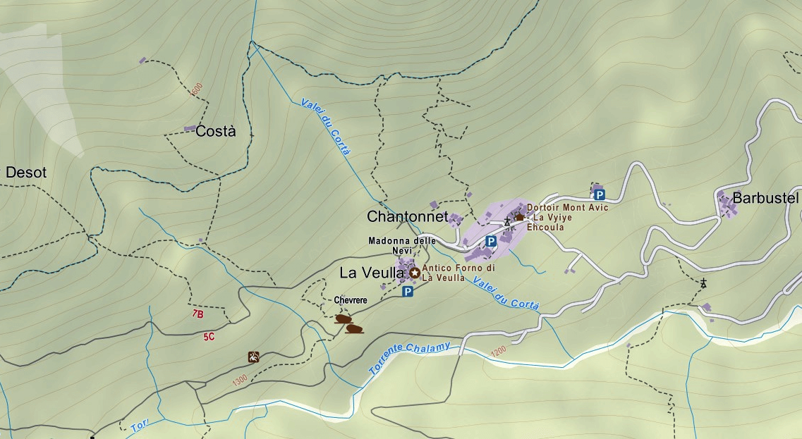 Covarey Ferrata Map