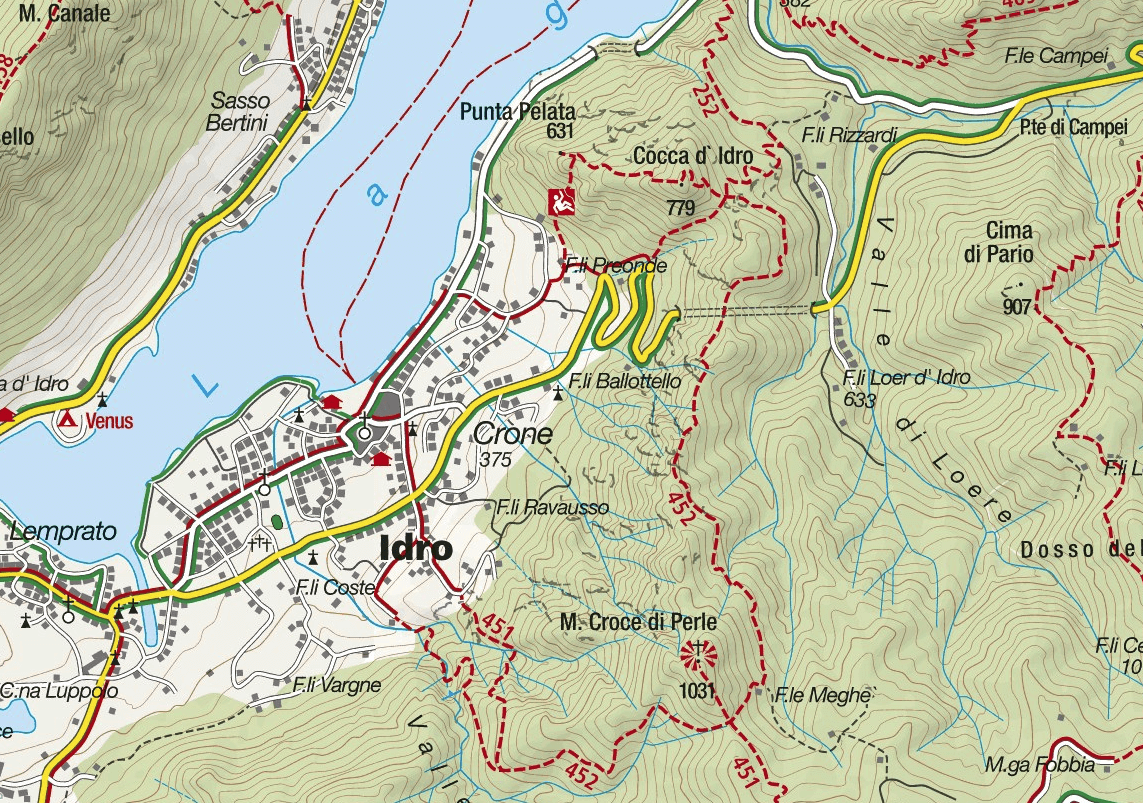 Crench Ferrata Map