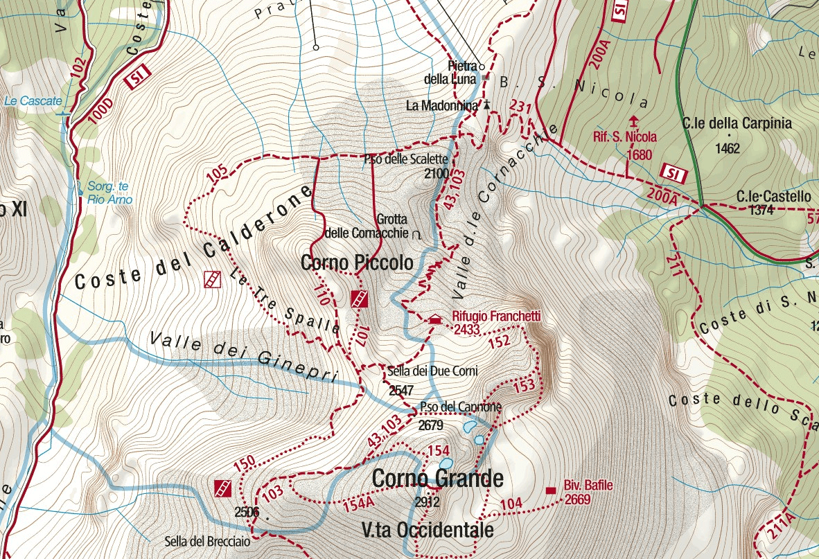 Ferrata Danesi Map