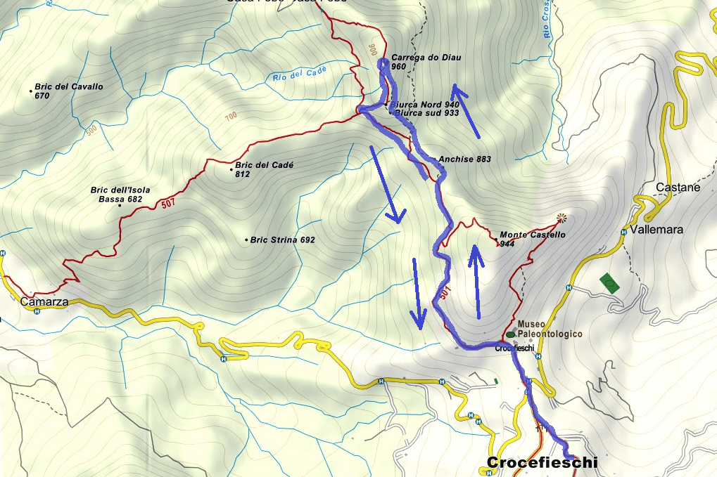 Deanna Orlandini Ferrata Route Map