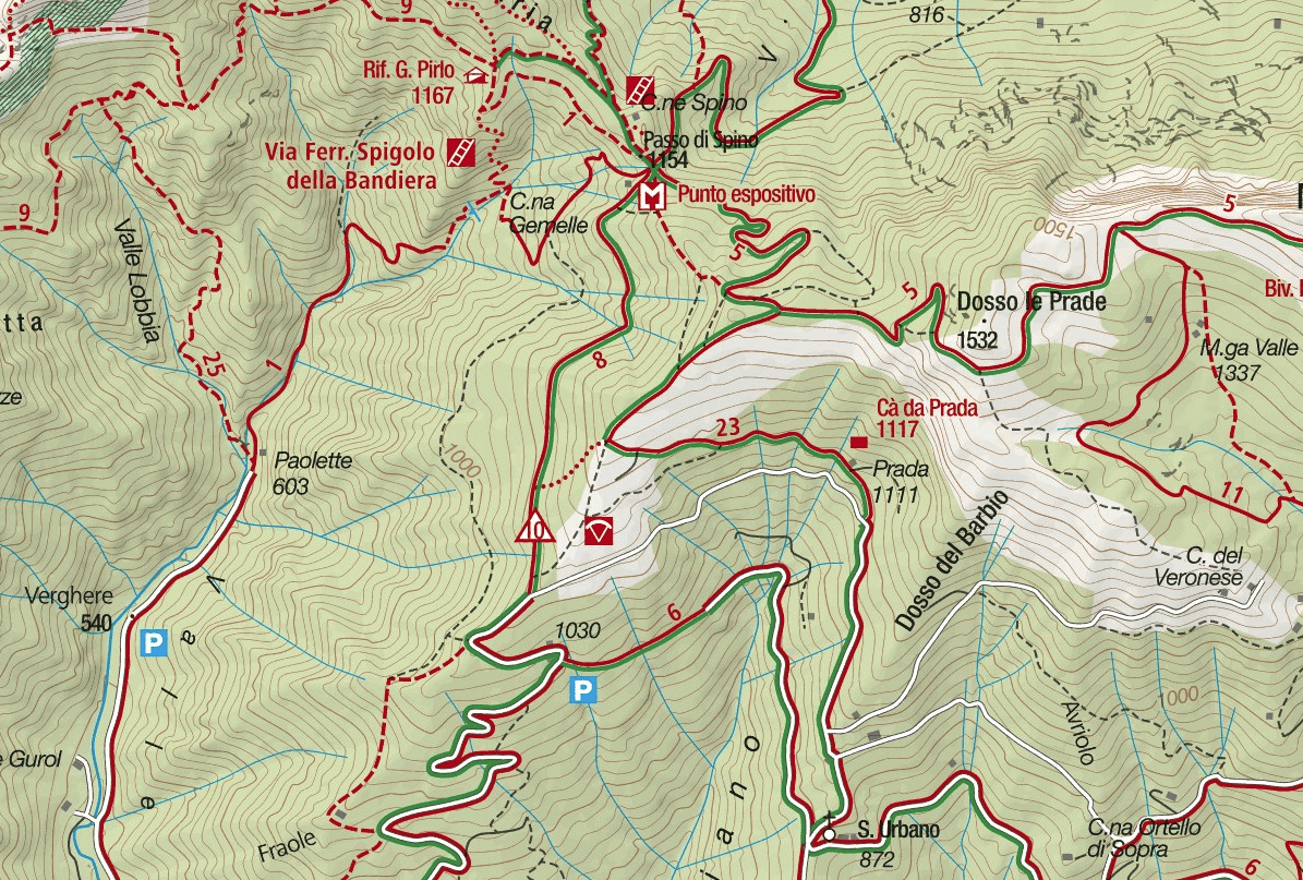 Ernesto Franco Ferrata Map