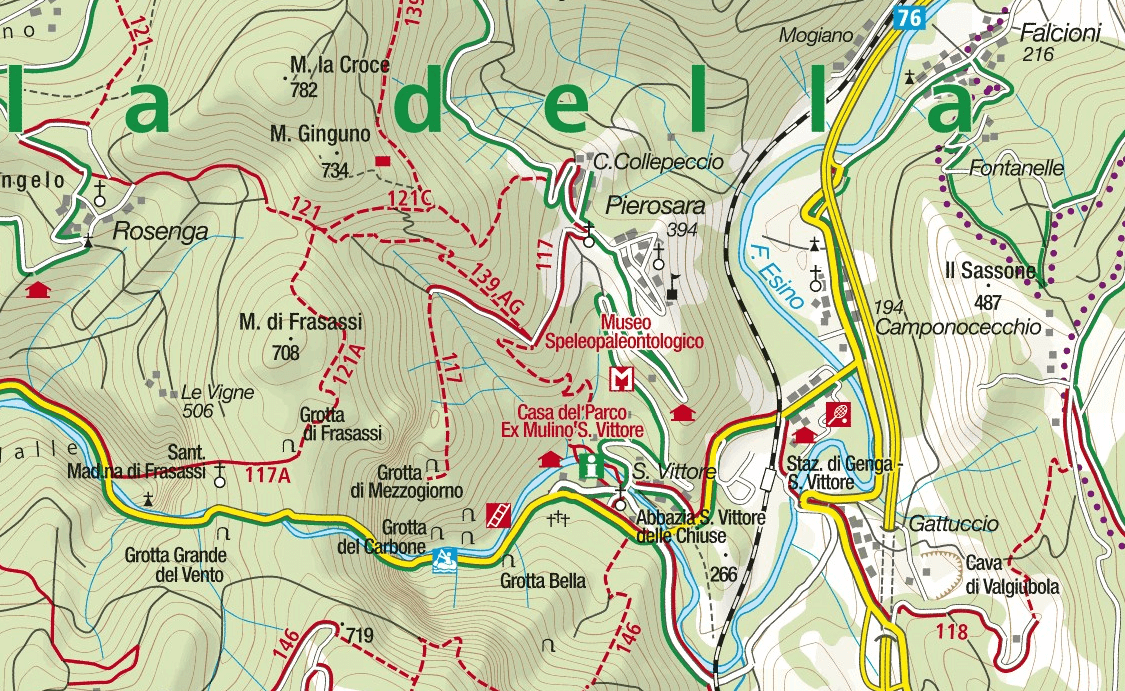 Ferrata Goggle Hole Map