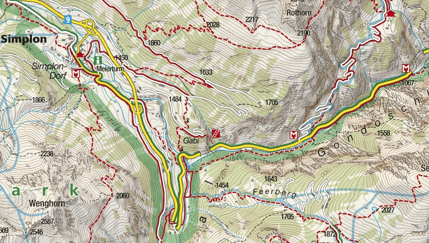Gabi Simplon Ferrata Map