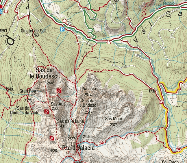 Gadotti Ferrata Map