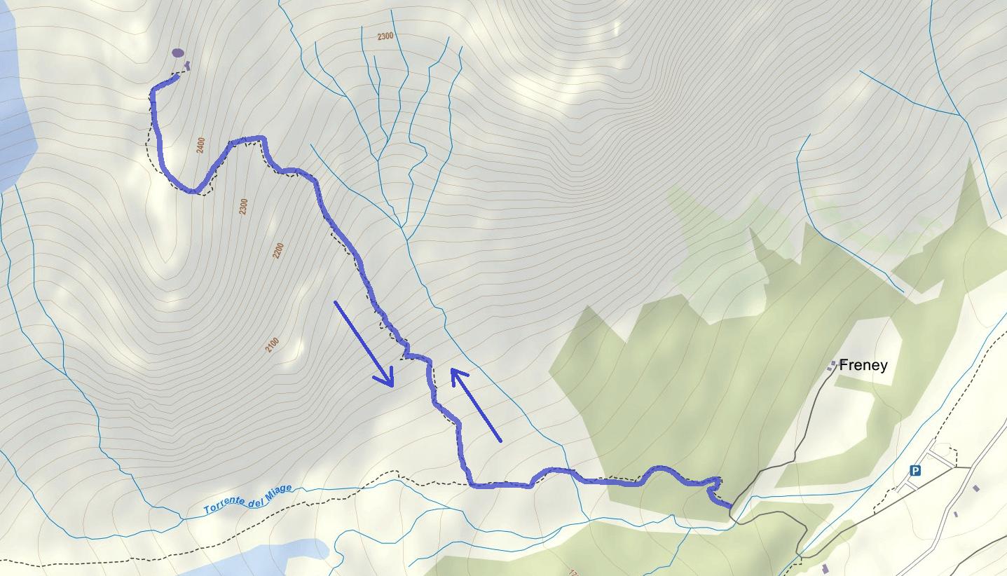 Cartina Ferrata Garda Rifugio Monzino Itinerario