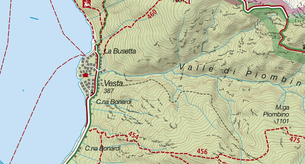 Ferrata Ginestre Map