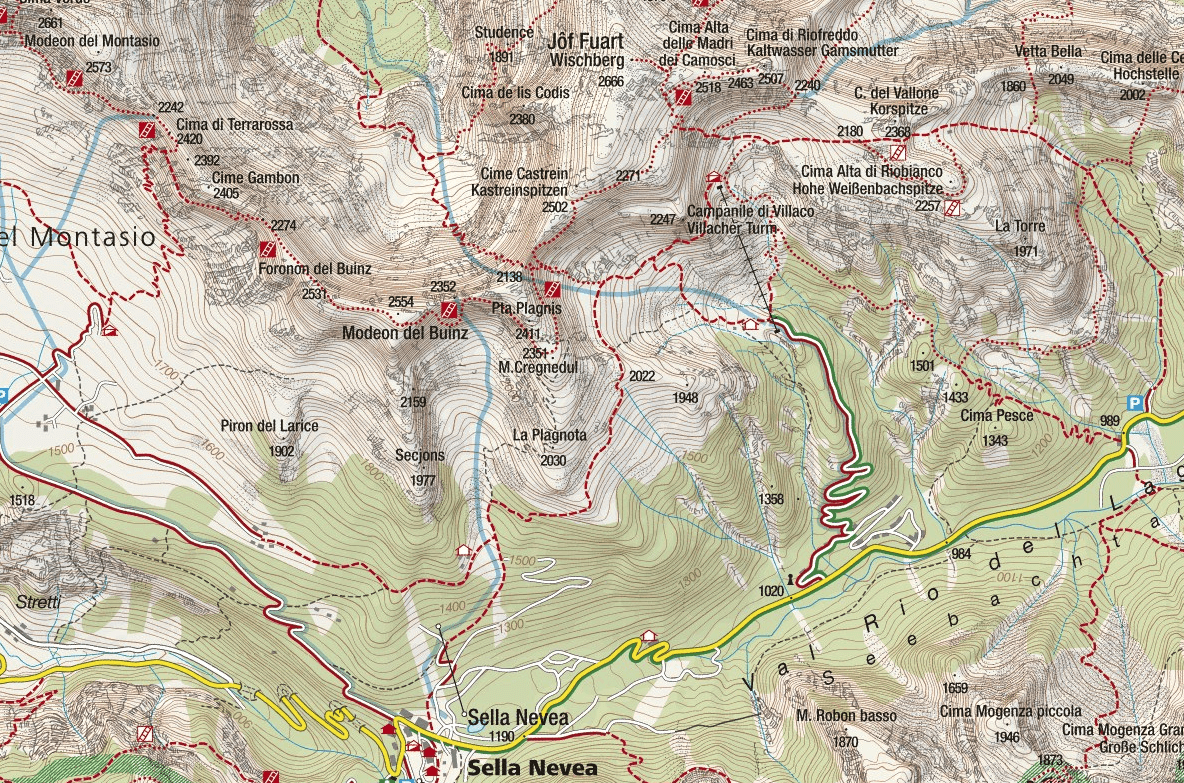 Goitan Ferrata Map
