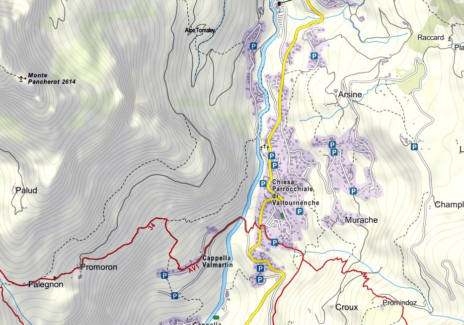 Gorbeillon Ferrata Map