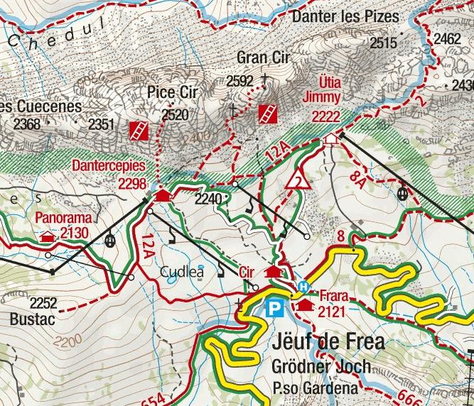 Big Cir Ferrata Map