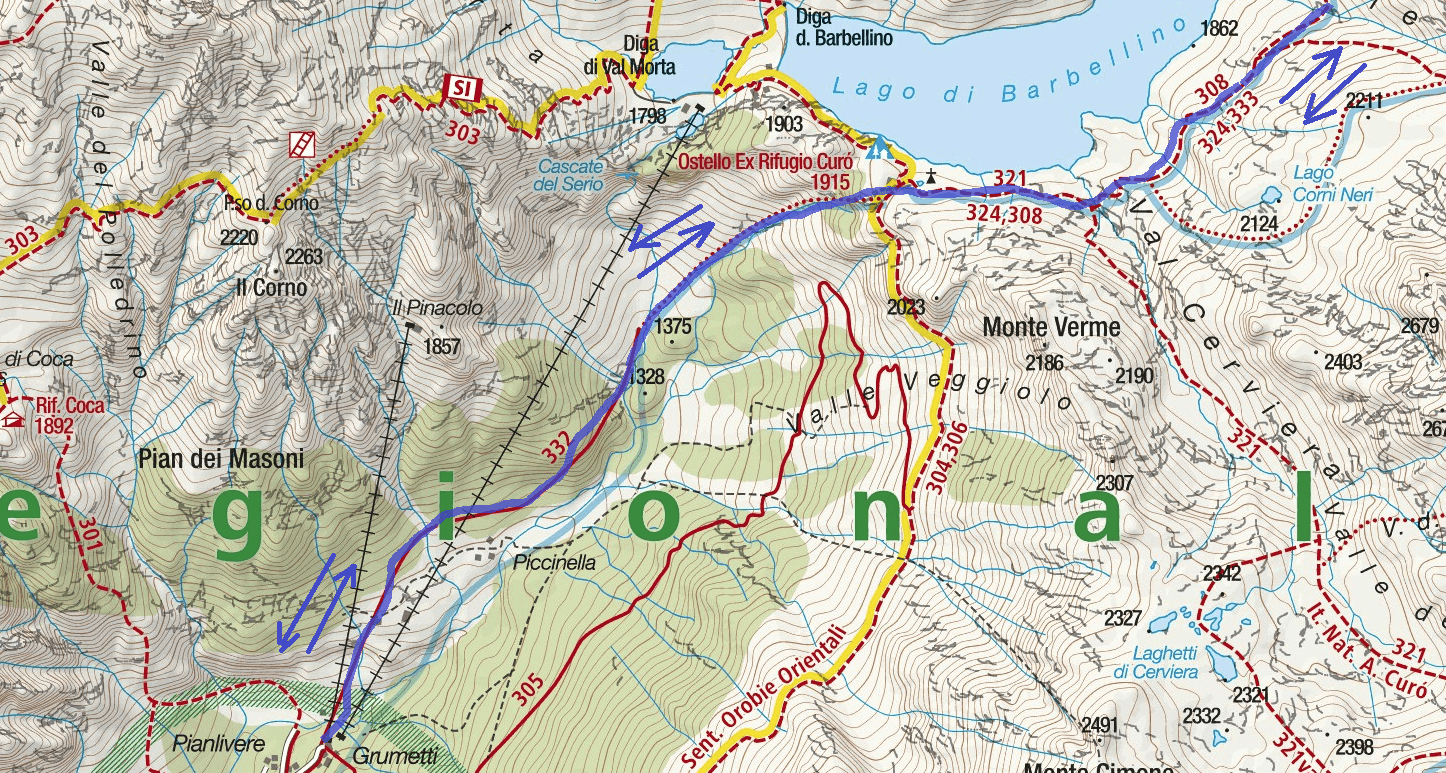 Guerino Rossi Ferrata Map Strino Lace Detail 1 Itinerary