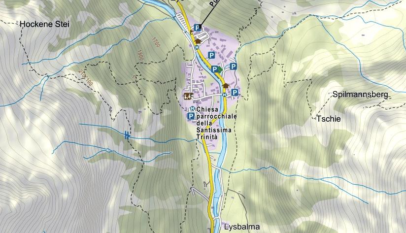 Cartina Ferrata Guide Grassoney
