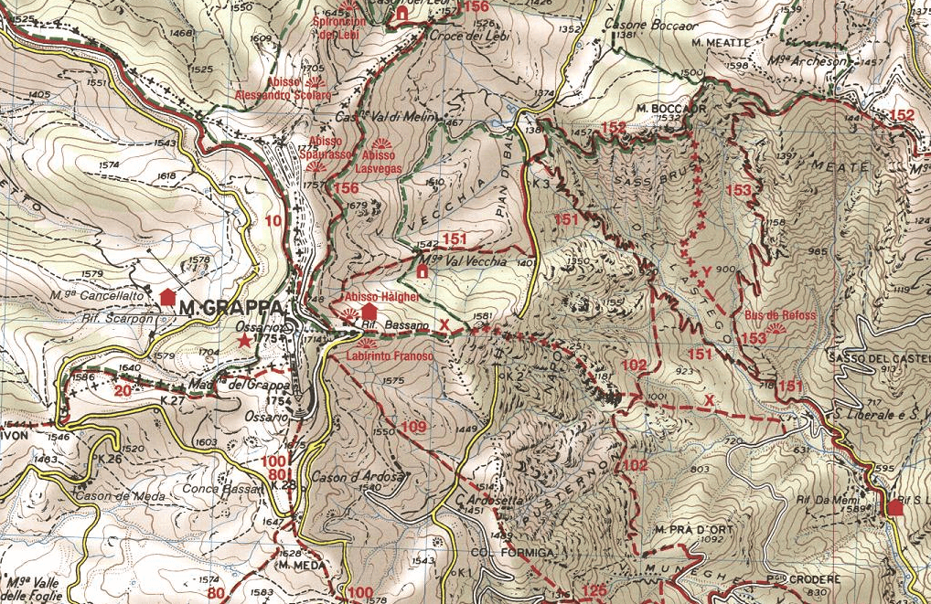 Guzzella Ferrata Map