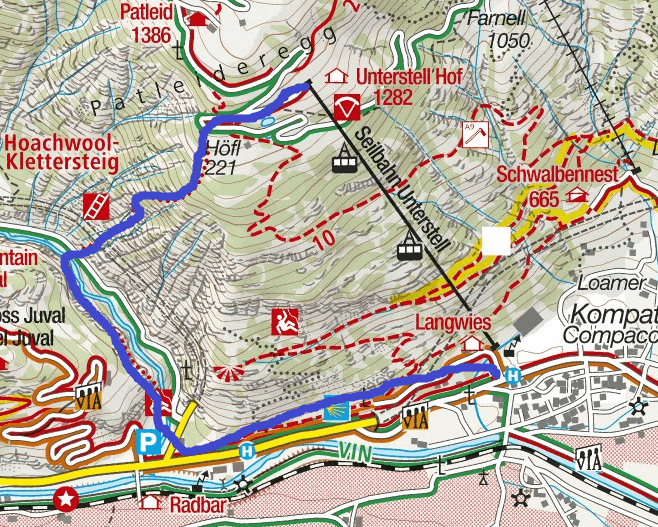 Cartina Ferrata Hoachwool Itinerario 1