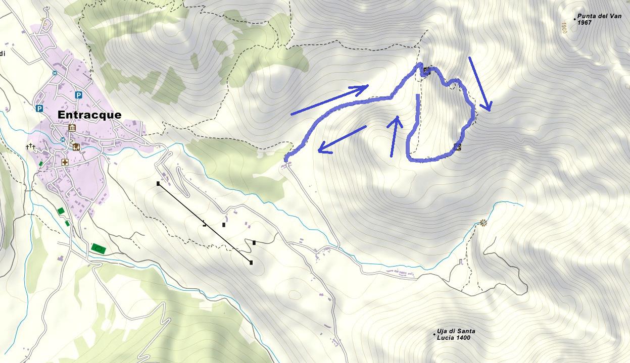 Ico Quaranta Funs Route Ferrata Map
