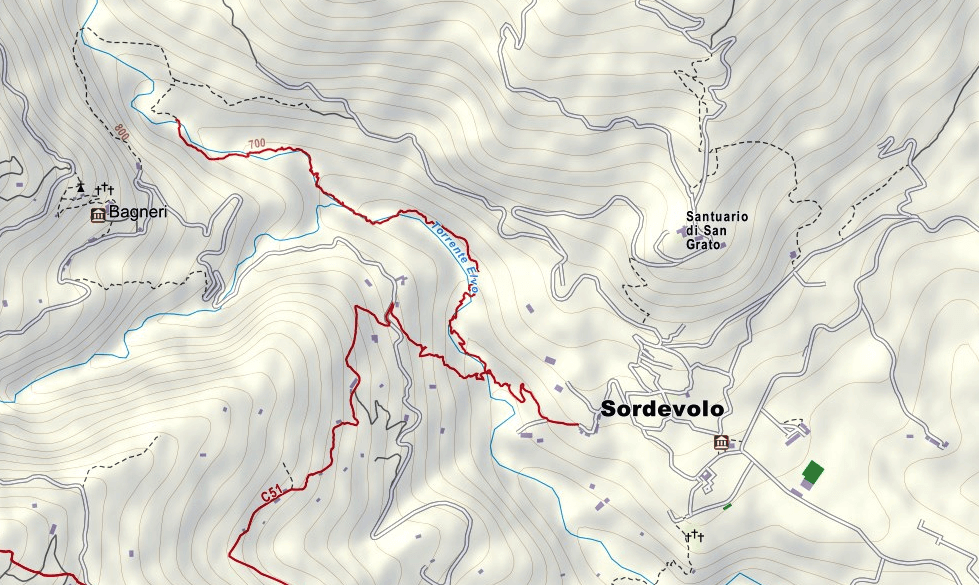 Ferrata Infernone Map