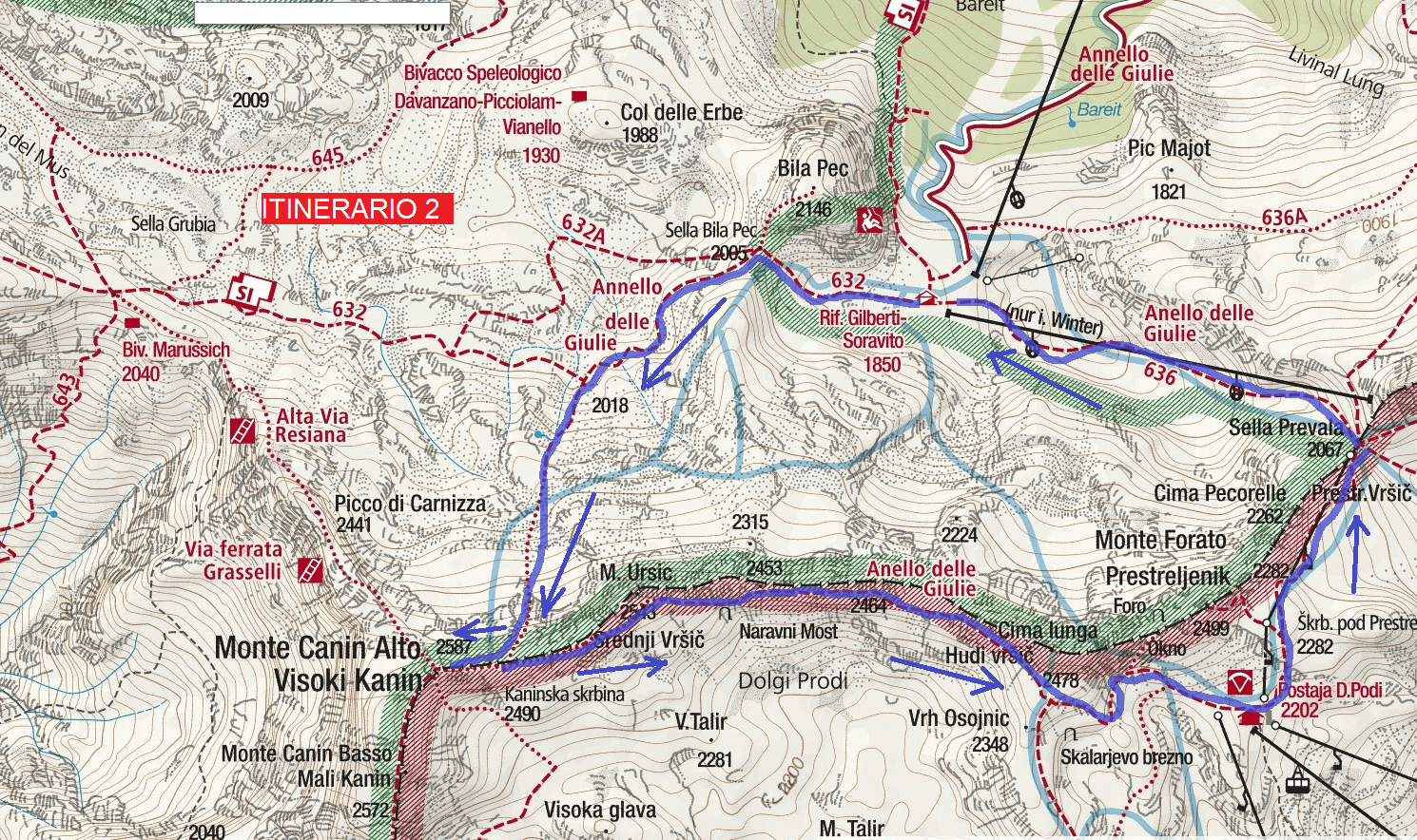 Julia Canin Route 2 Itinerary Map