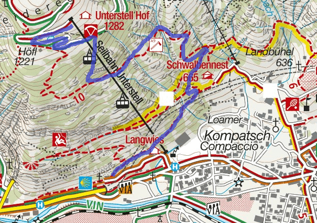 Knott Route Ferrata Map