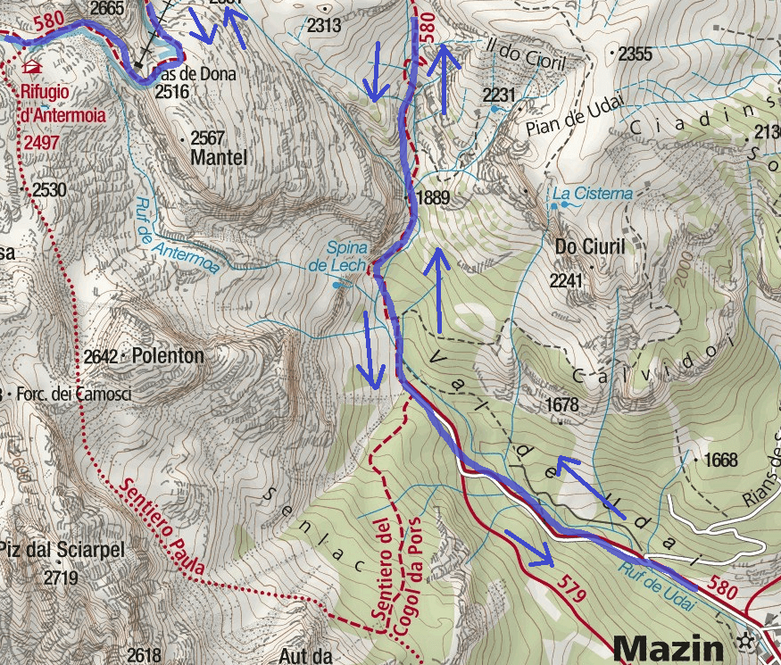 Laurenzi Ferrata Map Detail 1 itinerary